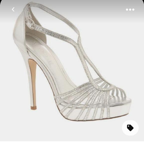 Aldo Gopie silver heels size 35
